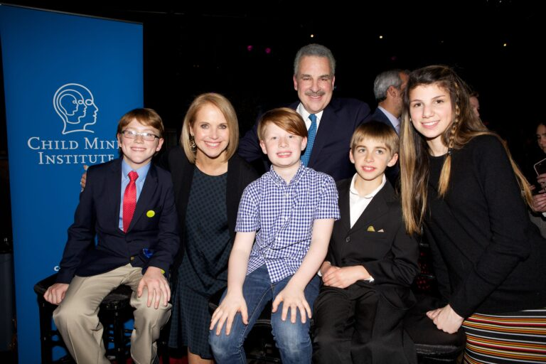Katie Couric, Harold Koplewicz and young friends at the 3rd Annual Child Mind Institute Change Maker Awards, May 9th, 2017.